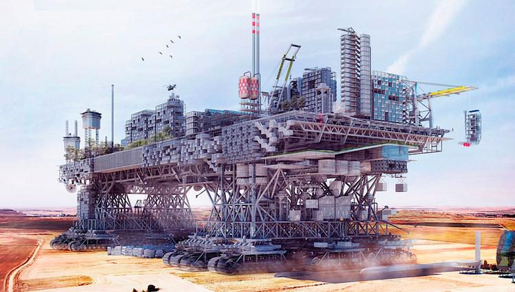 """Uma """"Walking City"""" para o século XXI, Courtesy of Poliedro"""