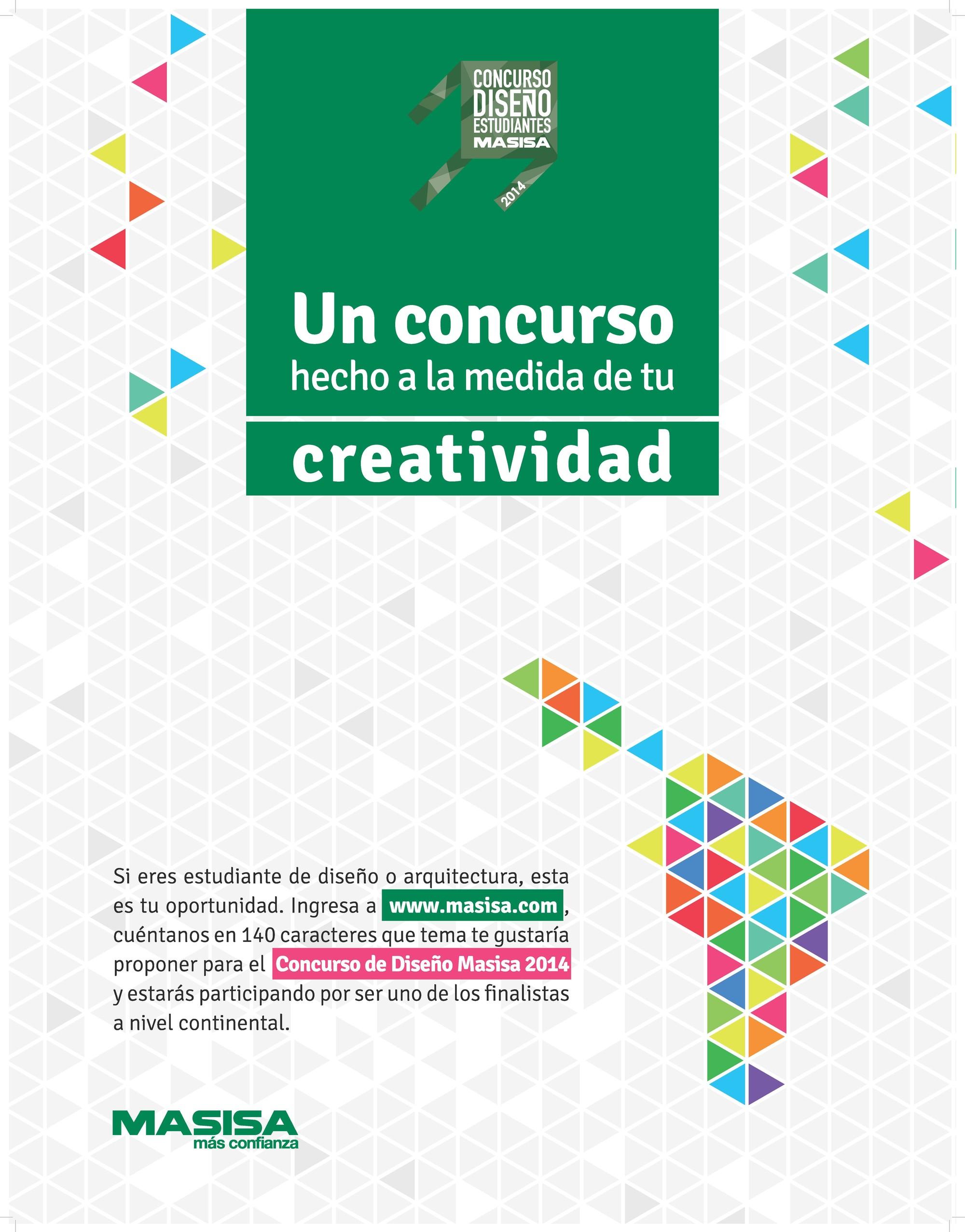 Masisa invita a proponer el tema de su Concurso de Diseño para Estudiantes