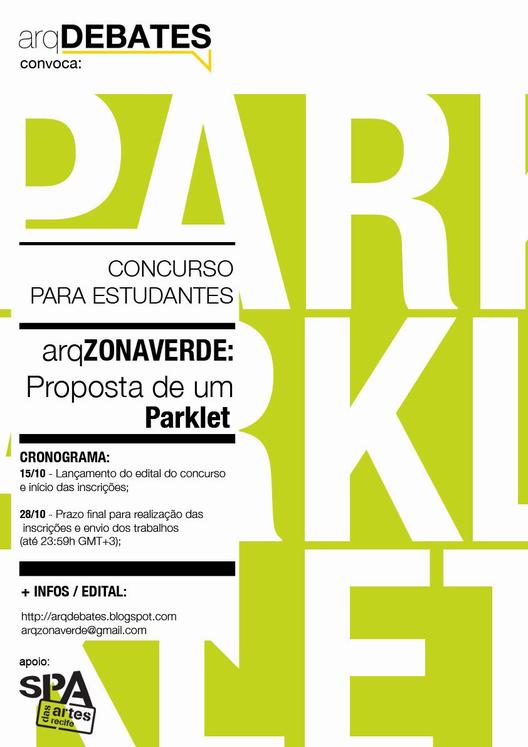 Concurso estudantil para a construção de um Parklet em Recife