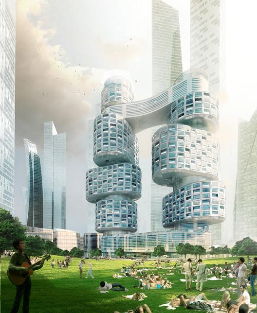 Velo Towers / Asymptote Architecture, © Asymptote Architecture