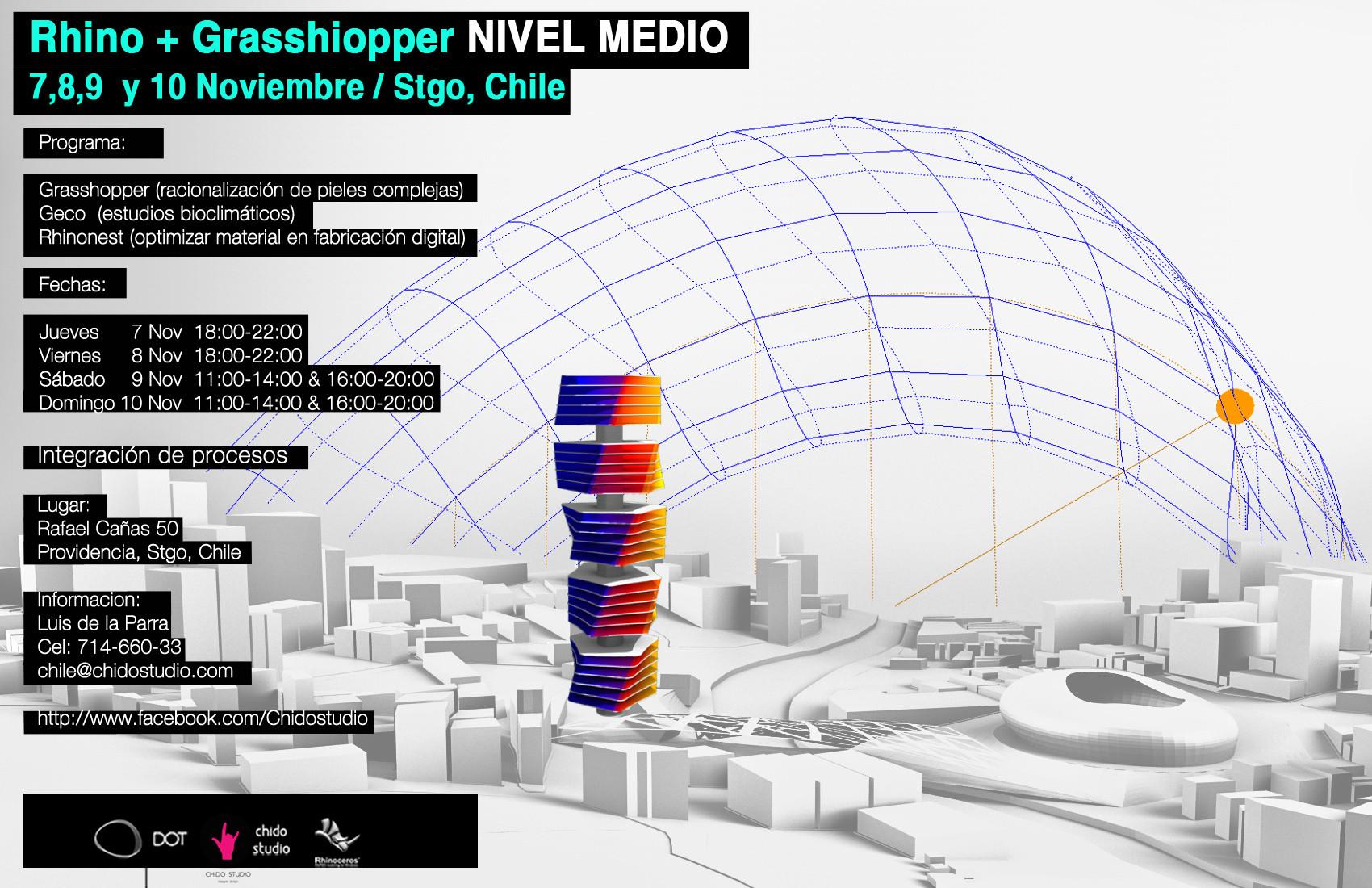 Workshop Rhino + Grasshopper NIVEL MEDIO [¡Sorteamos un Cupo!]