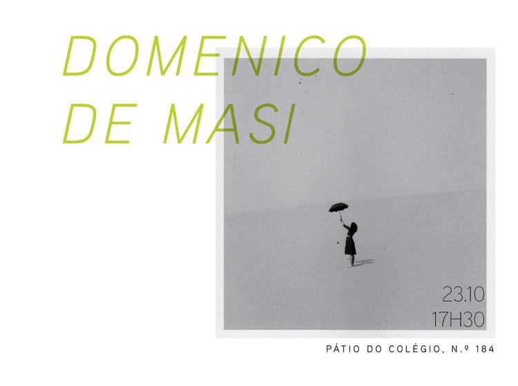 Palestra com Domenico de Masi em São Paulo, Cortesia de Escola da Cidade