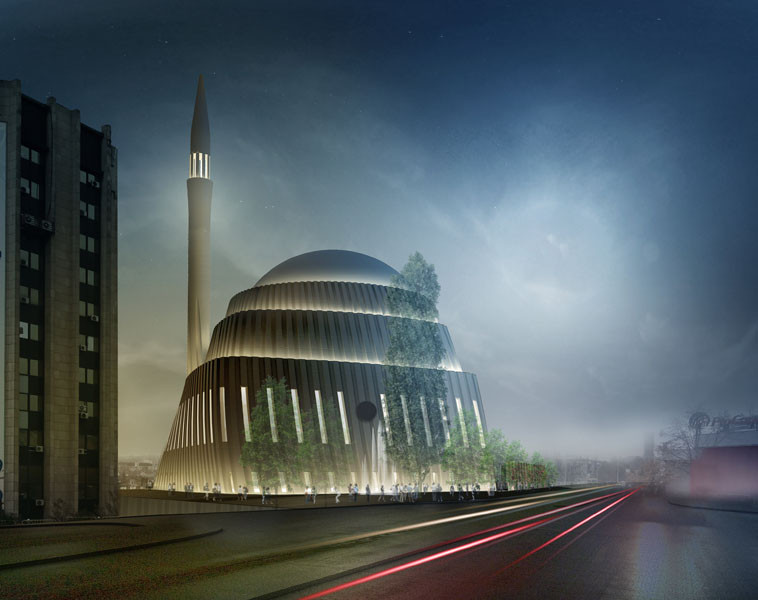 SADAR+VUGA Shares Second in Central Mosque of Pristina Competition, Mandatory 2. Image © SADAR + VUGA