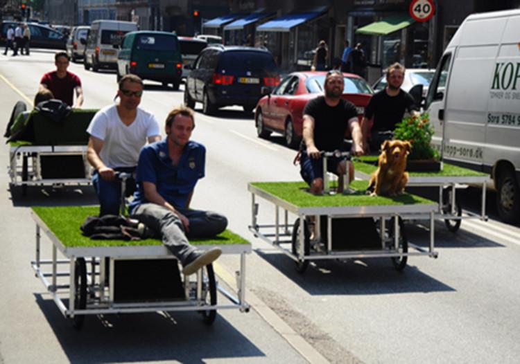 """Parkcycle Swarm"": uma  mistura de bicicletas e parques, Cortesia de n55.dk"