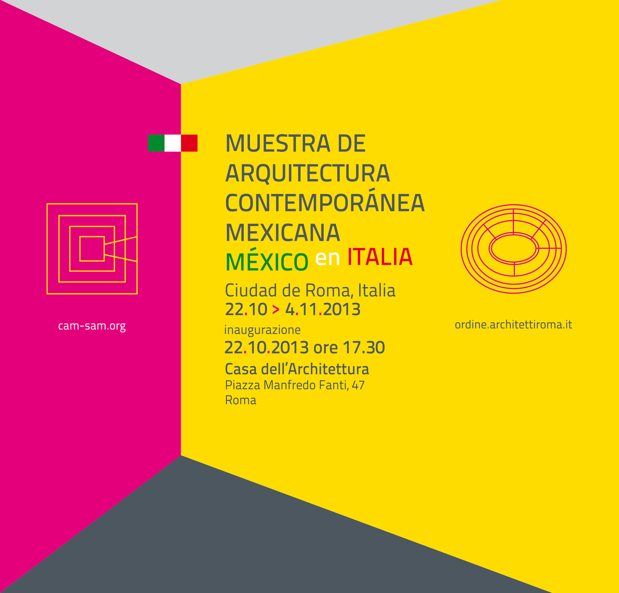 Hoy se inaugura la Muestra de Arquitectura Contemporánea Mexicana en Italia