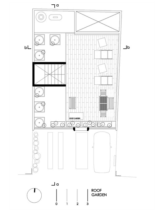 Social green house darkitectura archdaily for Roof garden floor plan