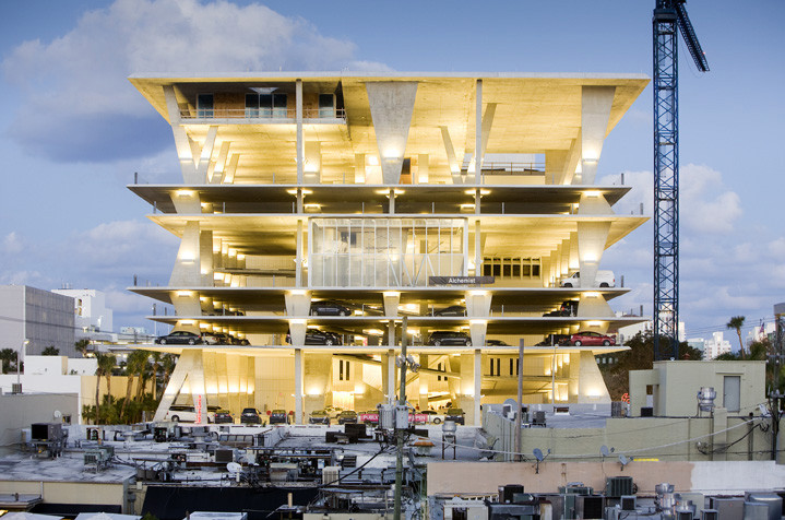 The World's 10 Coolest Car Parks, 1111 Lincoln Road in Miami, USA. Image © Nelson Garrido/1111Lincoln Road Shot Reprinted with permission from MBeach1, LLLP
