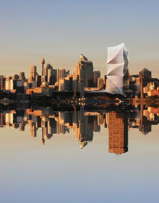 Bienal de Venecia 2014: Australia Exhibe 11 Proyectos Unbuilt (no construidos), Tower Skin. Imágen © LAVA