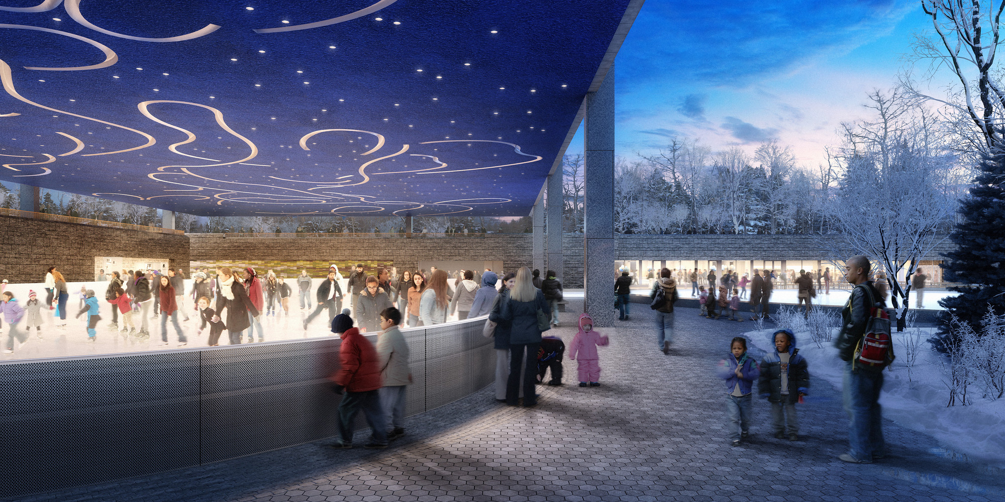 Tod Williams Billie Tsien Architects Design Ice Rink for NYC, Courtesy of Tod Williams Billie Tsien Architects / Dbox