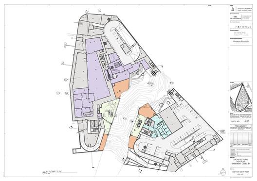 Basement Level; Connection to Wadi. Image © FXFOWLE Architects
