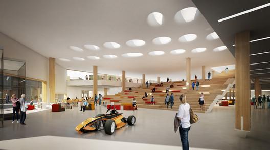 Lobby Rendering. Image © ALA Architects