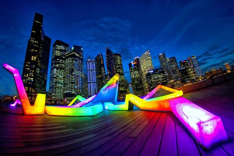 Light Matters: Principais Festivais de Luz na Europa, Light Marina Bay. Singapore, 2012. Image © Darren Chin