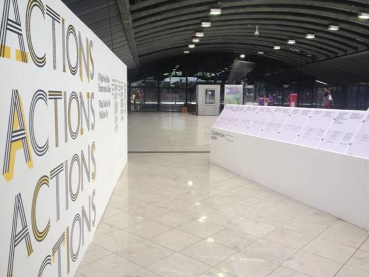 Ações: o que você pode fazer com a cidade - Canadian Centre for Architecture (CCA) - Exposição na X Bienal, Cortesia de X Bienal de Arquitetura de São Paulo
