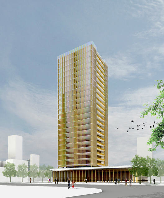 ¿Es posible construir rascacielos en madera?, Cortesía de Michael Green Architecture