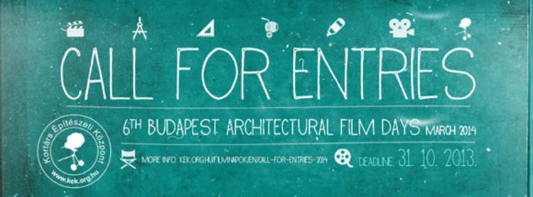Inscrições para o 6º Budapest Architecture Film Days