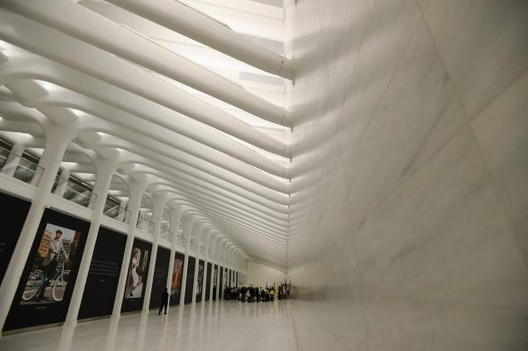 First Section of Santiago Calatrava's PATH Station Opens in NYC, Image via New York Daily News © Mark Bonifacio