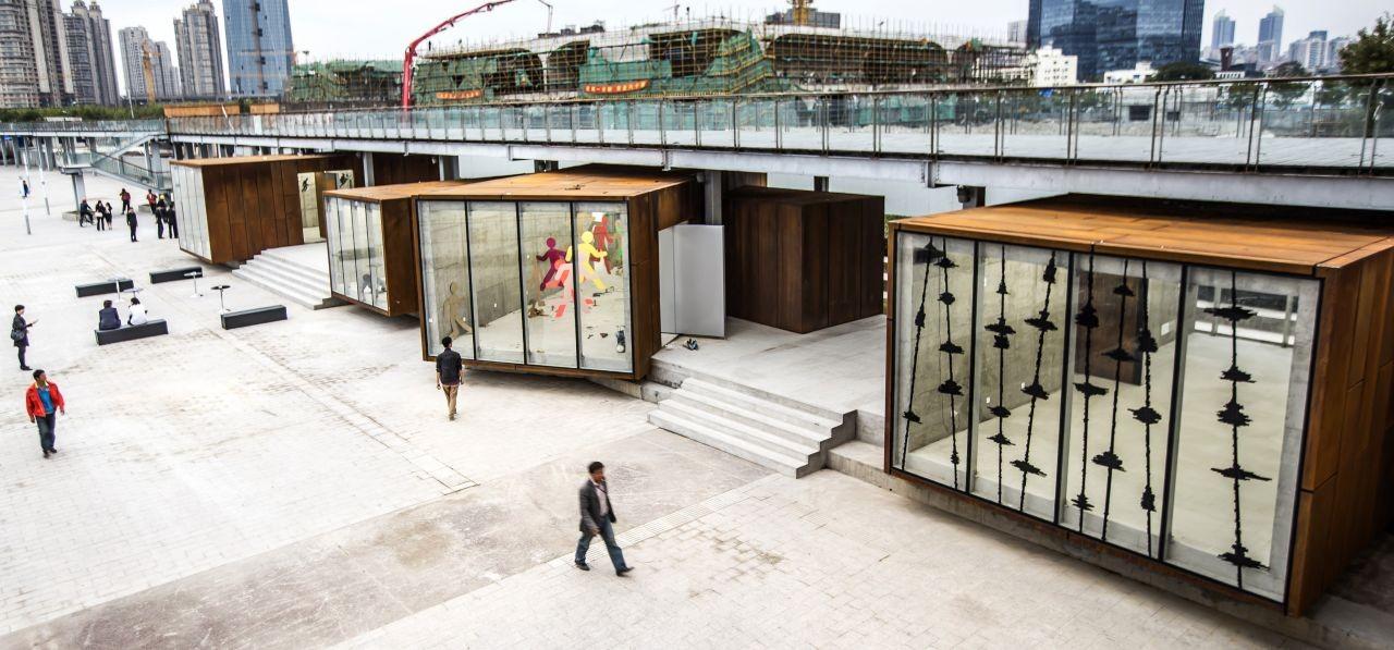 Pabellones de la Bienal de Shanghai West Bund / SHL Architects