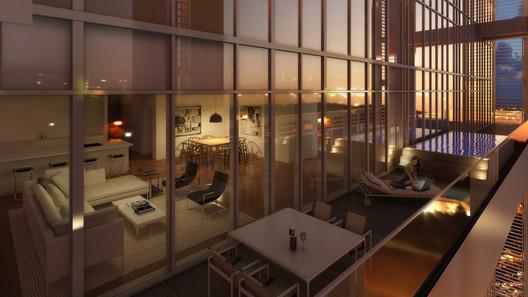 The Royal Penthouse . Image © Richard Meier