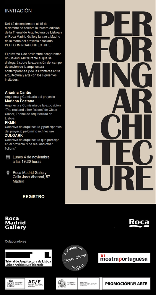 PERFORMINGARCHITECTURE / Trienal de Arquitectura de Lisboa