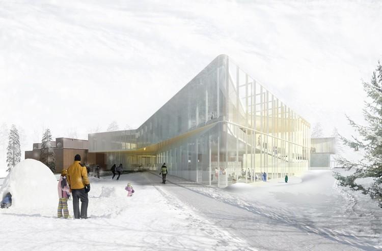 Proposta vencedora para a Biblioteca Pierrefonds / Chevalier Morales Architectes, Cortesia de Chevalier Morales Architectes