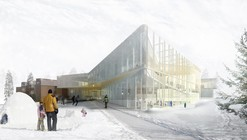 """Pierrefonds Library"" Winning Entry / Chevalier Morales Architectes"