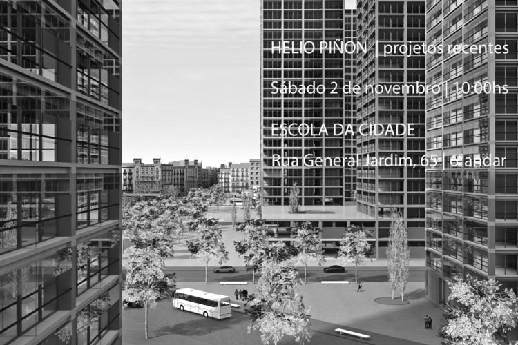 Palestra com Helio Piñón na Escola da Cidade, Cortesia de Escola da Cidade