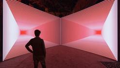 Instalación Onion Skin - un juego de ilusión y perspectivas geométricas por Olivier Ratsi