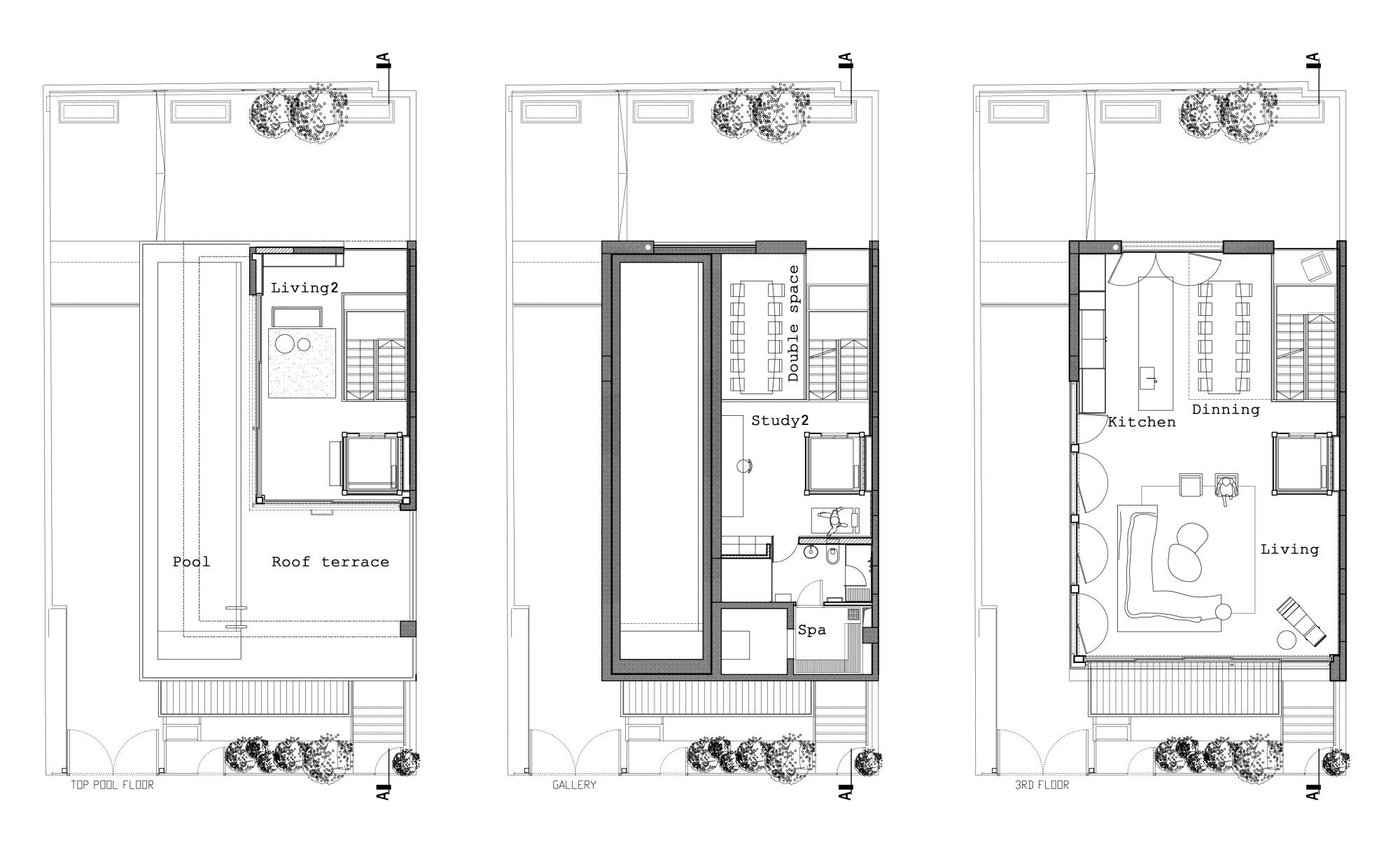 Gallery of tel aviv townhouse pitsou kedem architects 18 for Small townhouse floor plans