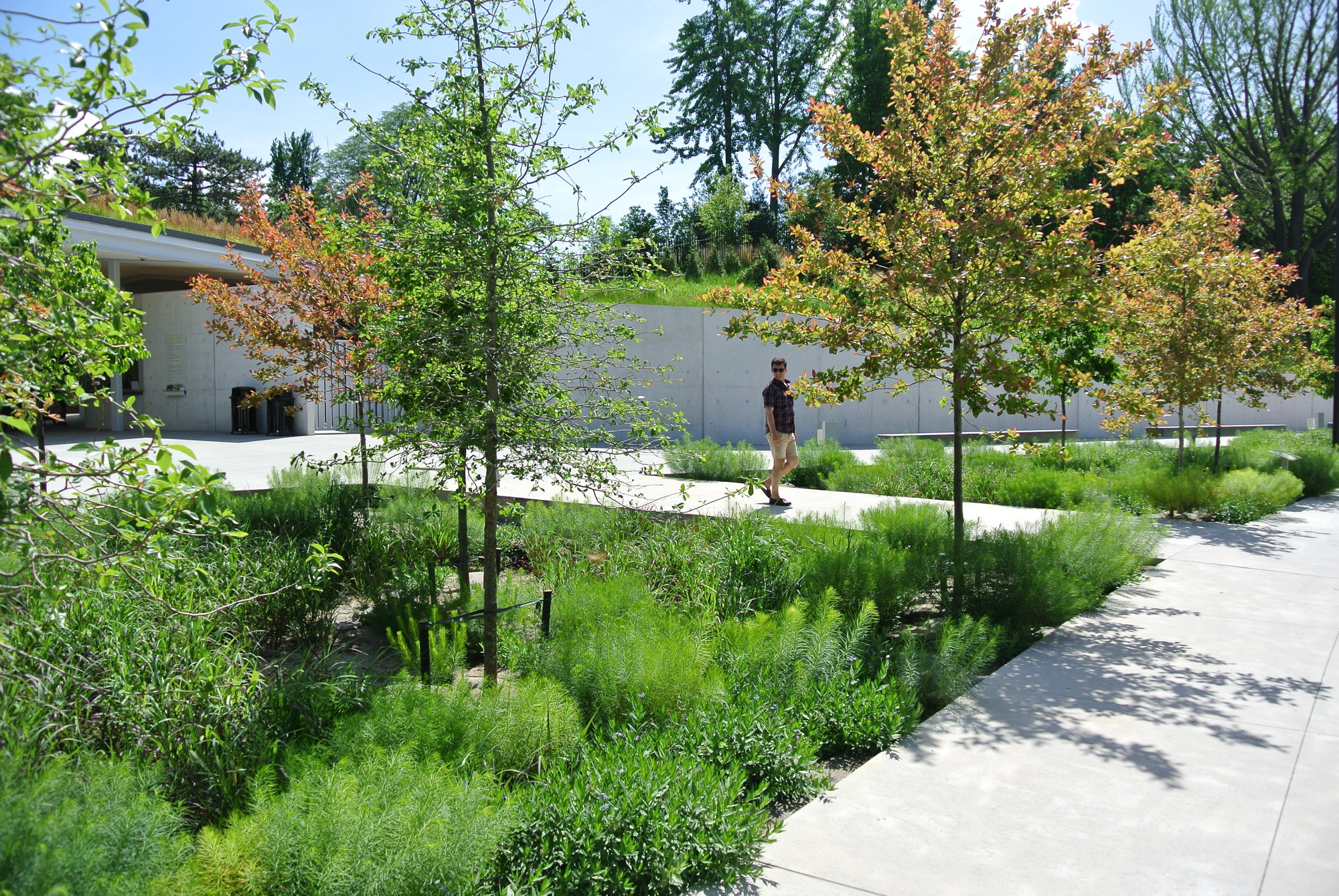 Landscaped Gardens Facility: Gallery Of Brooklyn Botanic Garden Visitor Center / Weiss