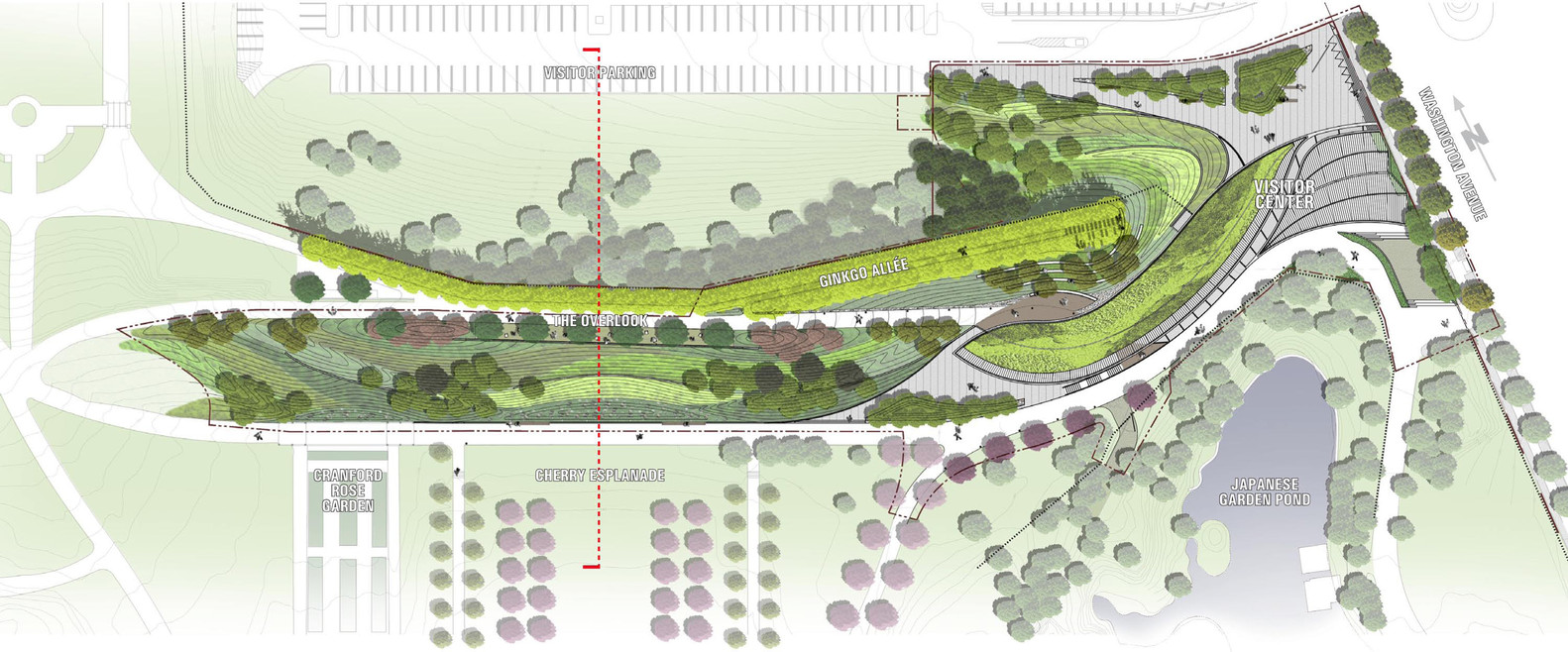 Brooklyn Botanic Garden Visitor Center,Site Plan