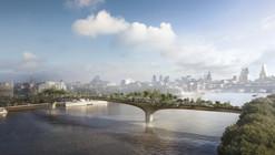 """Thomas Heatherwick divulga novas imagens da """"Garden Bridge"""" em Londres"""