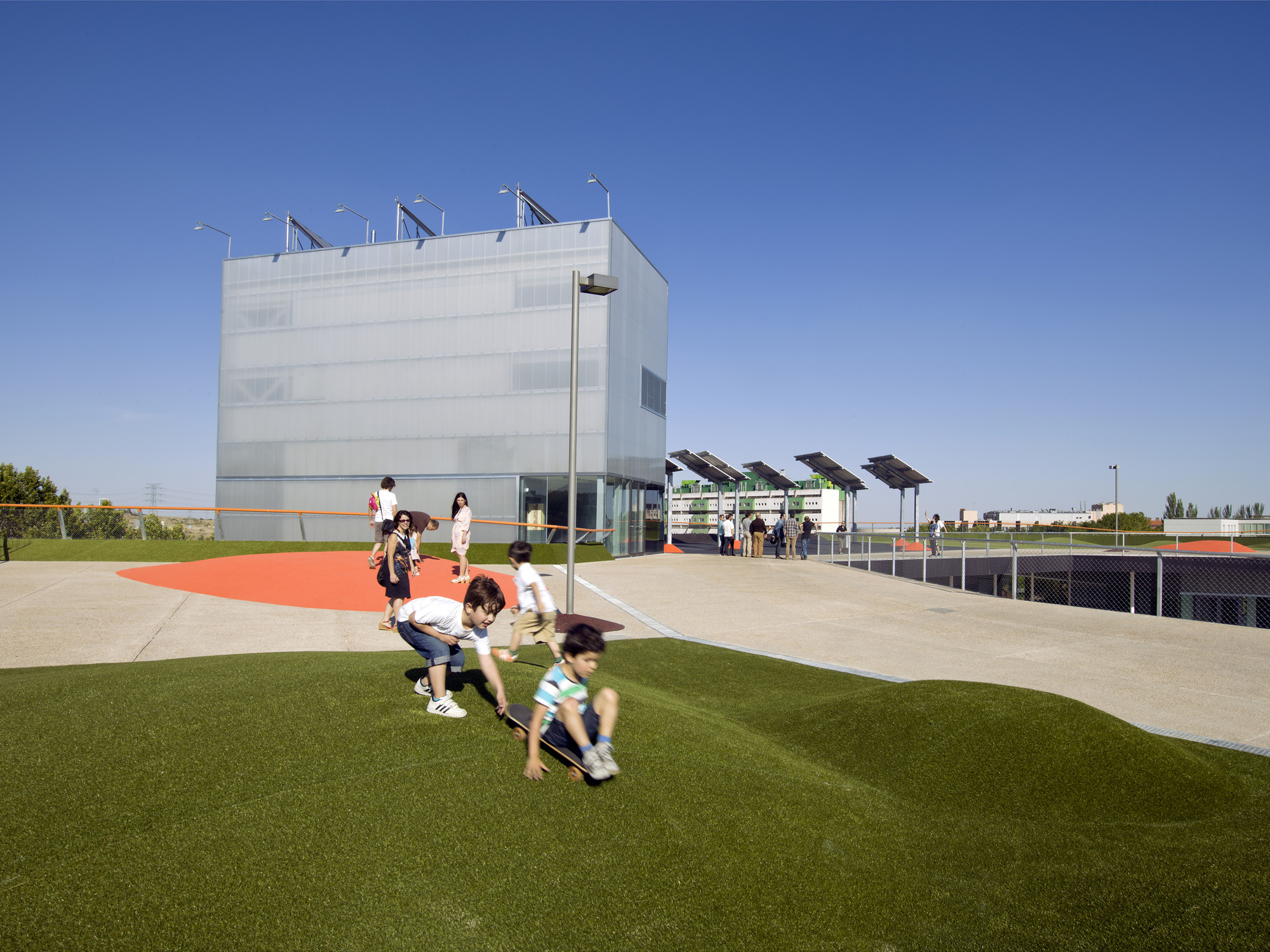 Playa Mayor Services Building UAM / MTM Arquitectos, © Luis Asin