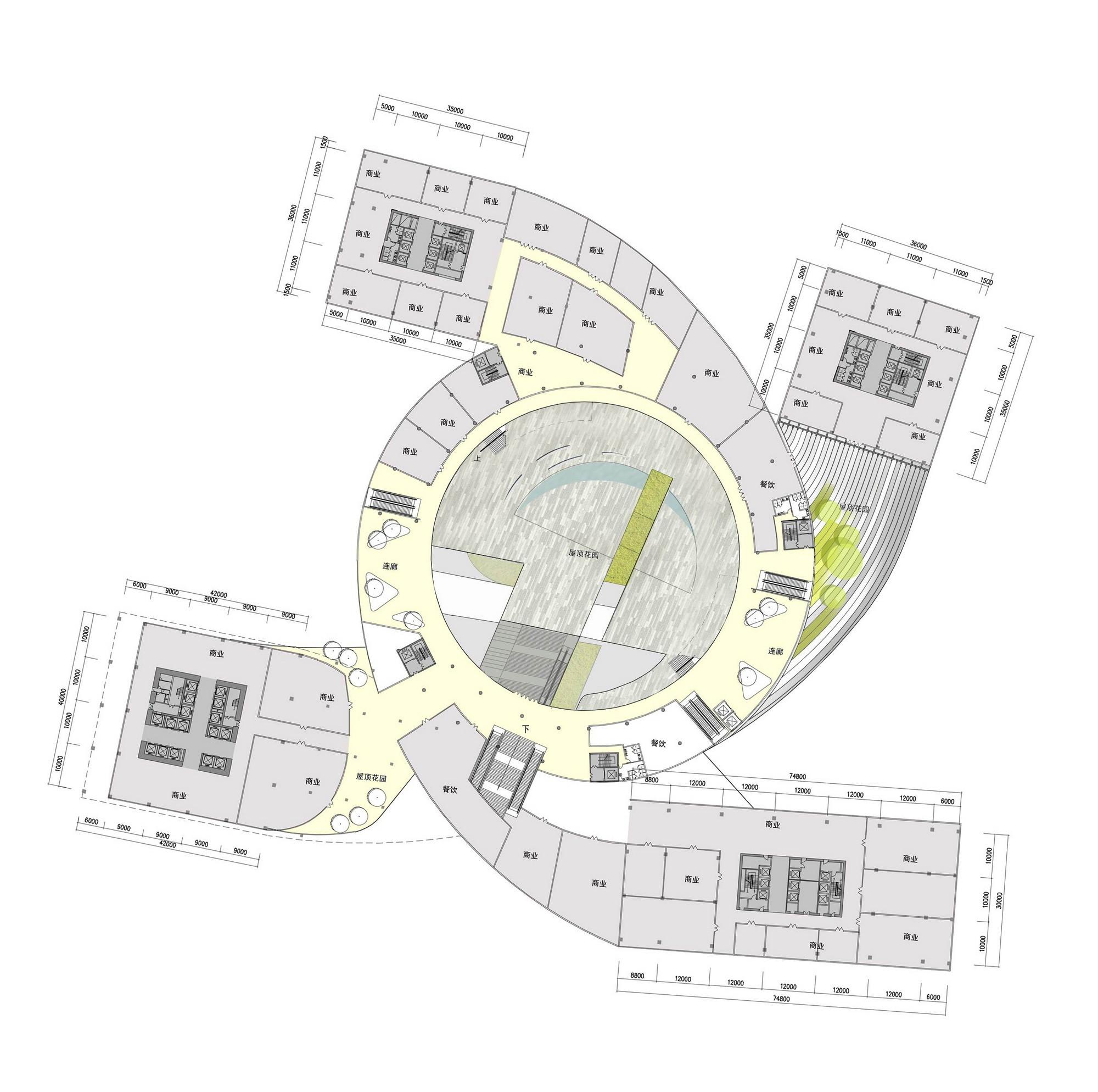 "Award Winning Open Floor Plans: Gallery Of ""Fangda Business Headquarters"" Winning Entry"