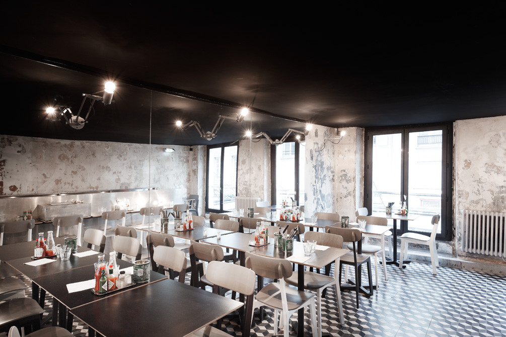 Paris New York Restaurant Cut Architectures Archdaily