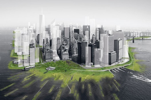 Architecture Research Office and dlandstudio have proposed Wetlands in Lower Manhattan to deal with the next Hurricane Sandy. Image Courtesy of Architecture Research Office and dlandstudio