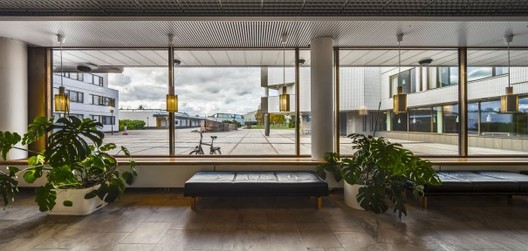 Exhibition: Aalto's architecture in Rovaniemi, View of the Civic Square From Rovaniemi Town Hall, Hallituskatu 7. Photo: Jukka Suvilehto/Provincial Museum of Lapland
