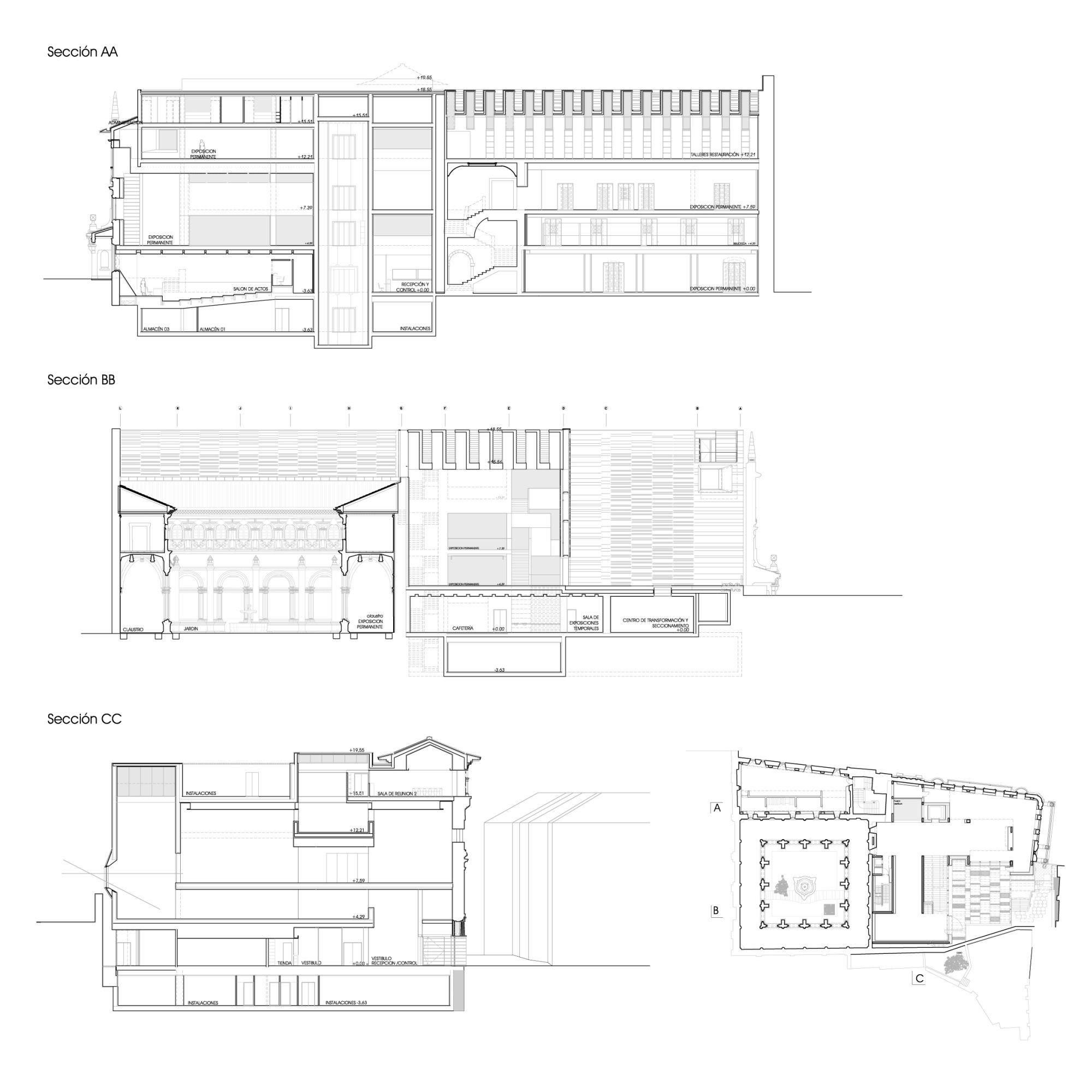Galer a de museo arqueologico de oviedo pardo tapia - Arquitectos oviedo ...