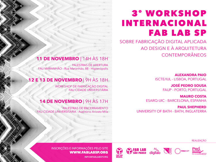 3º Workshop Internacional FAB LAB SP, na FAUUSP