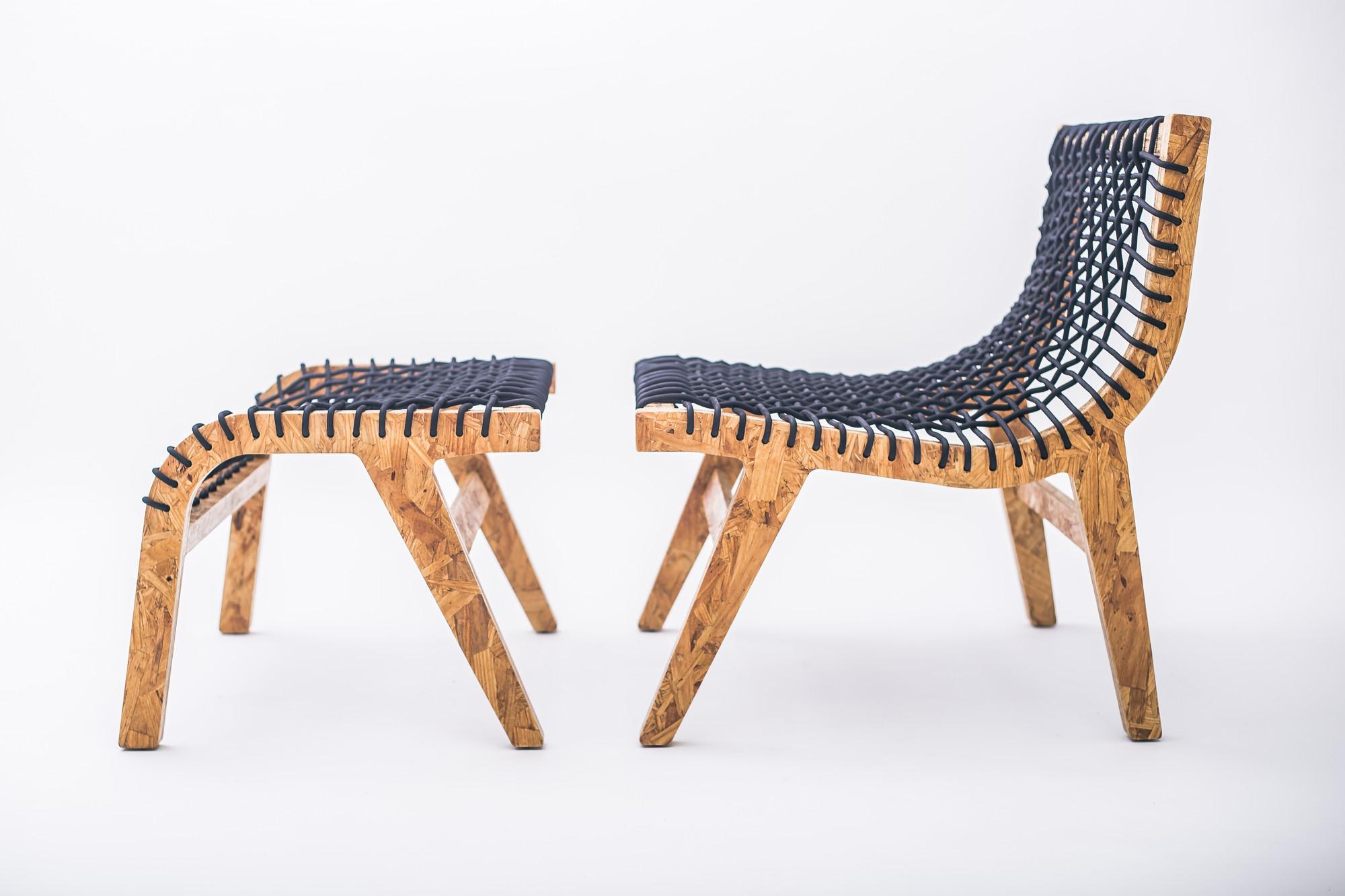 Silla y Otoman Clara / Ricardo Casas Design, Courtesy of NotWaste