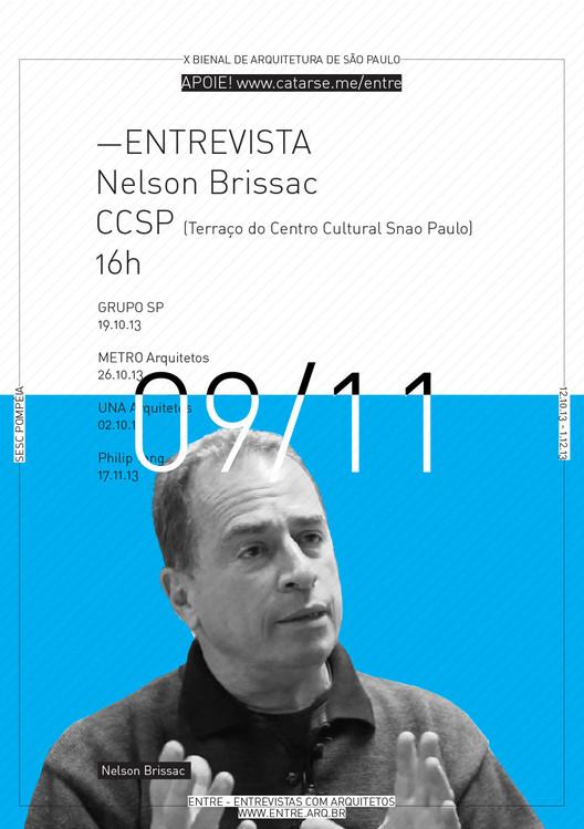 ENTRE - Exposição e conversas com Arquitetos - 09/11 - Nelson Brissac, Cortesia de ENTRE