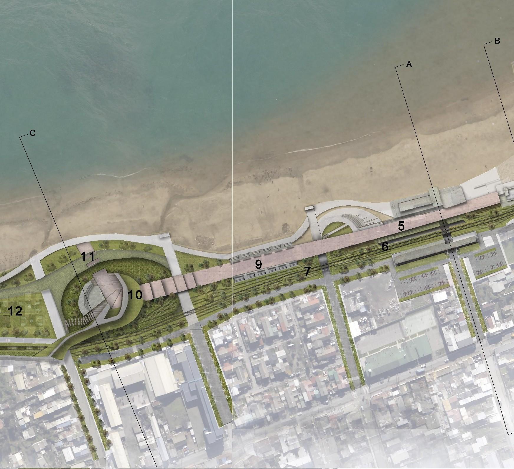 """Resultados del I Concurso Ideas Urbanas para estudiantes de Arquitectura """"Parque costanera de Penco"""", Courtesy of Coordinadora Nacional de Estudiantes de Arquitectura"""