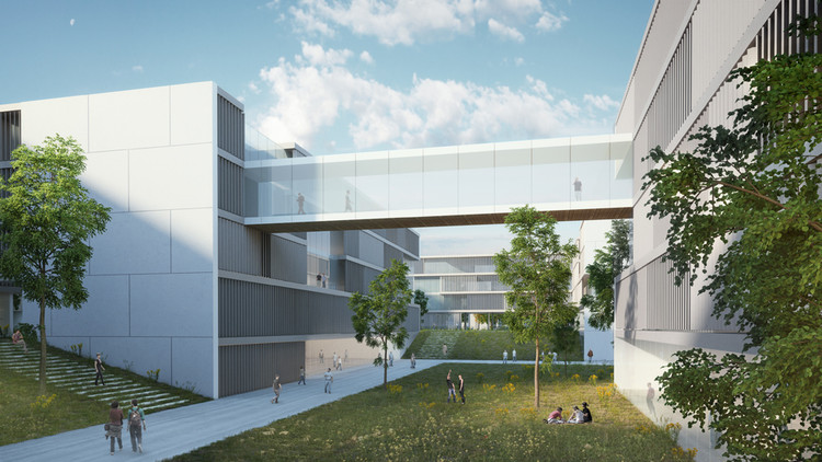 Masterplan para o campus norte da BGU University / Chyutin Architects, Cortesia de Chyutin Architects