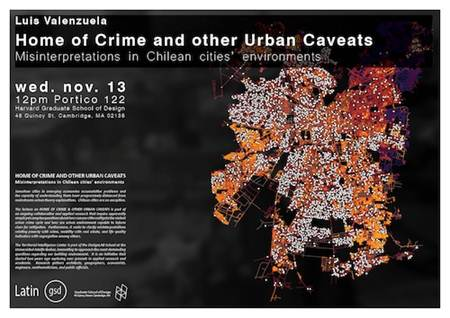"Charla ""Cuna del Crimen y Otras Advertencias Urbanas: Interpretaciones Erróneas de Ambientes Urbanos de Ciudades Chilenas"", Courtesy of Design Lab UAI"