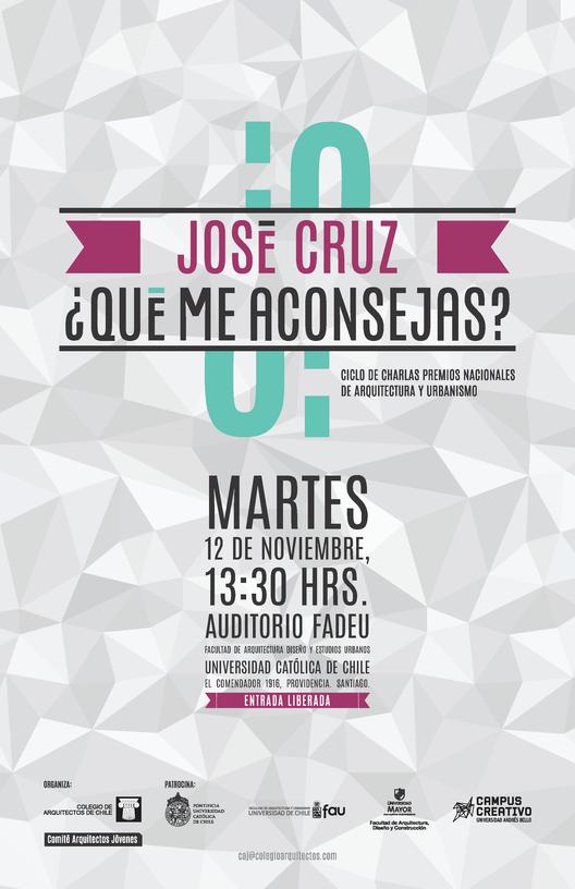 """Charla de José Cruz en Ciclo """"¿Qué me aconsejas?"""""""