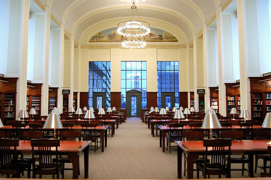 The reading room in the Nashville Public Library. Image Courtesy of Flickr User robert.claypool