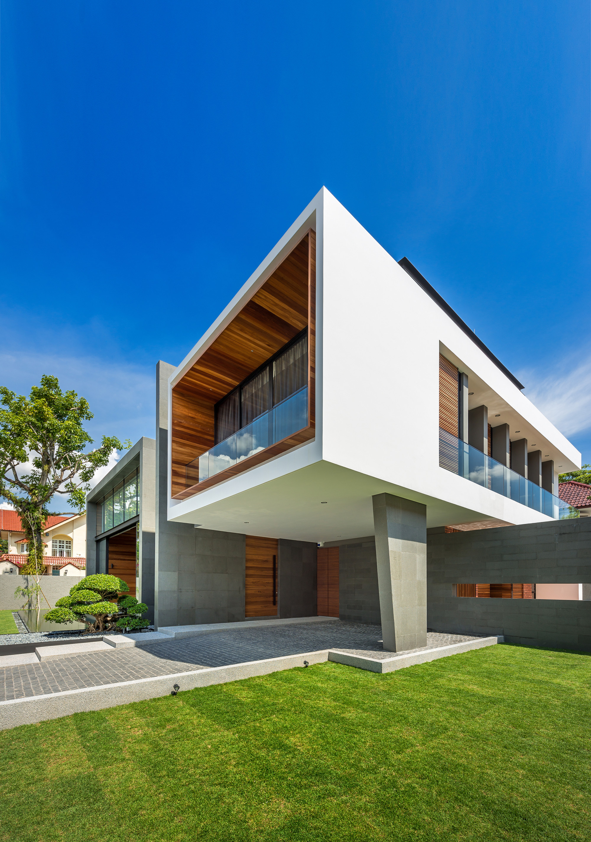 Mimosa road park associates pte ltd archdaily for Precast concrete home plans
