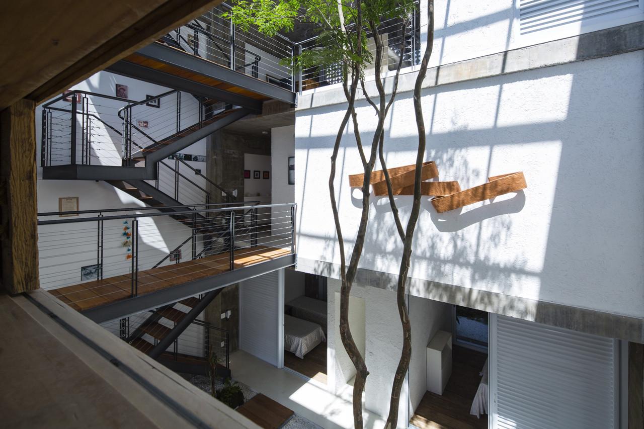 Courtyard Home Designs Galeria De Resid 234 Ncia M Amp M Bonina Arquitetura 3