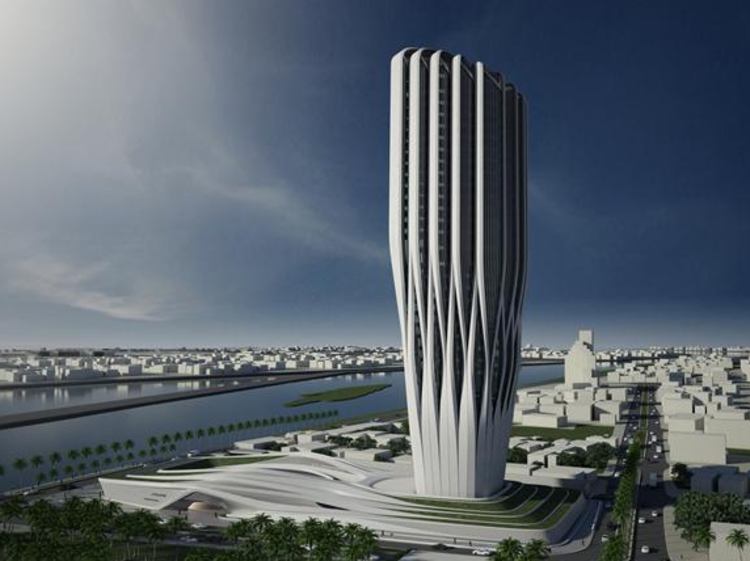 Zaha Hadid escolhida para projetar o Parlamento Iraquiano em Bagdá, Central Bank of Iraq / Zaha Hadid Architects. Image Courtesy of ZHA