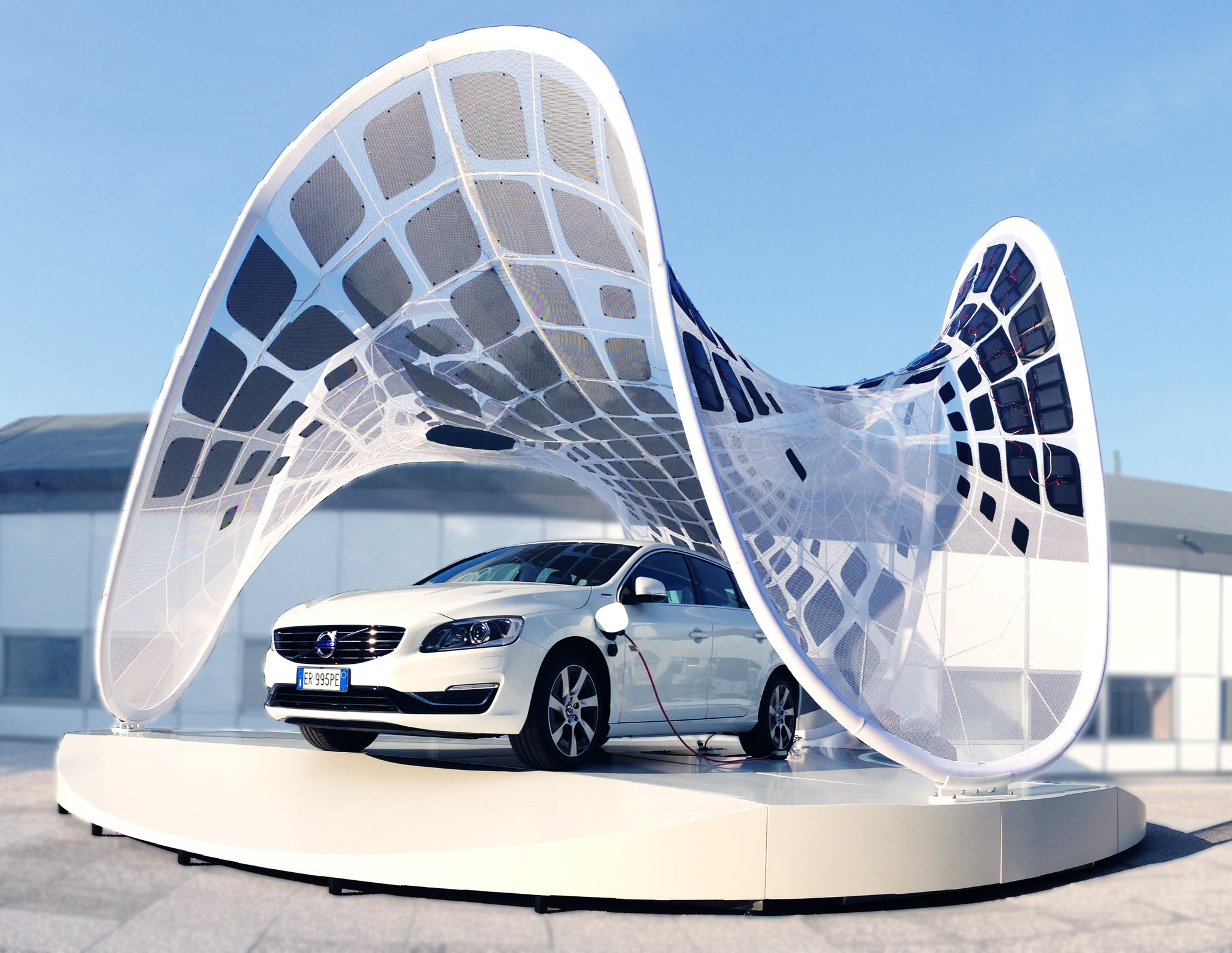 SDA + Volvo Collaborate to Create Portable Car-Charging Pavilion, Courtesy of SDA