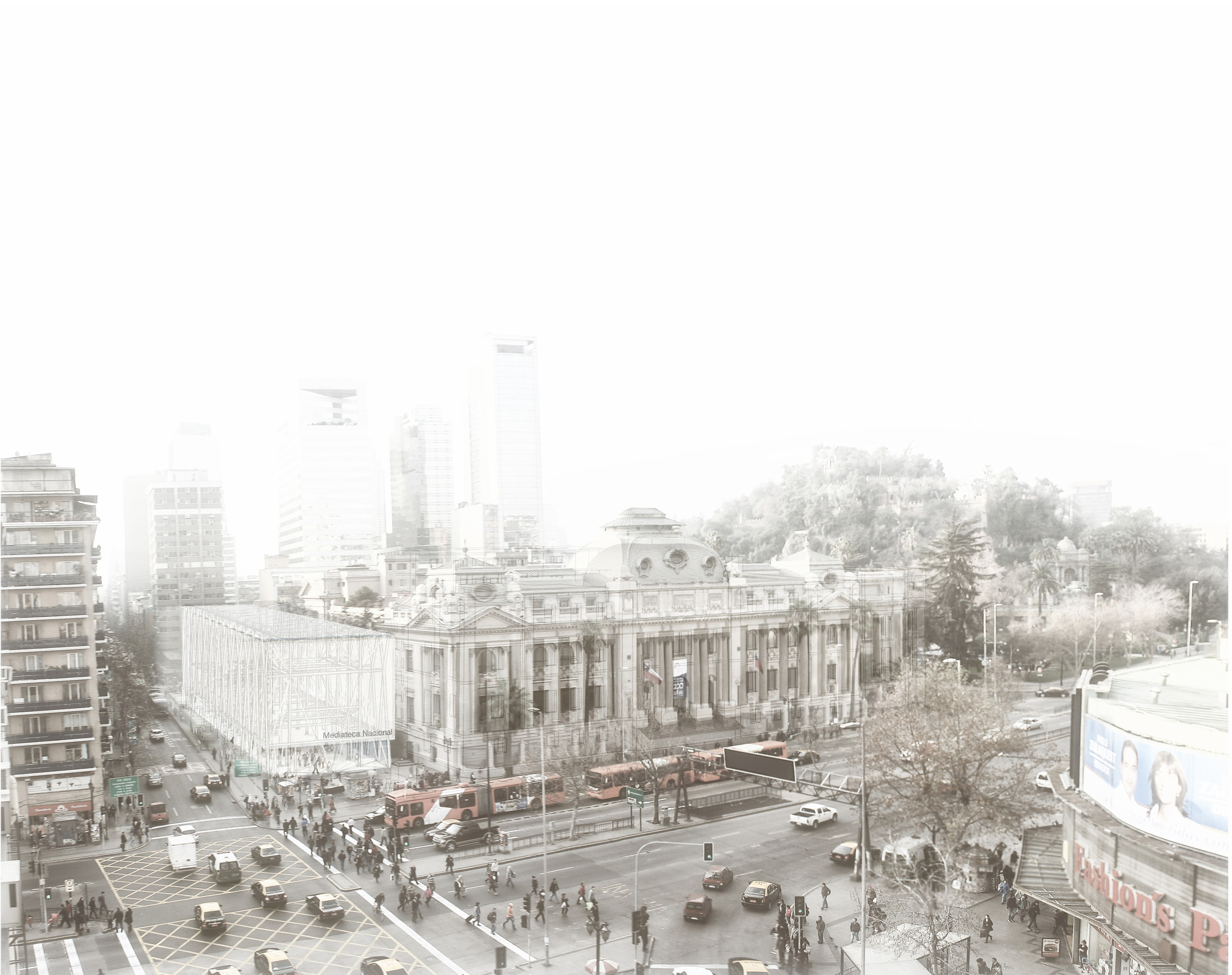"""Equipo de Chile resulta ganador del 6to Concurso Alacero de Diseño en Acero para Estudiantes de Arquitectura , Primer Lugar Concurso CAP 2013 """"Biblioteca mediateca pública"""". Image © Equipo Primer Lugar"""